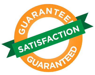 100% Satisfaction Guarantee on all of our Cleaning Services
